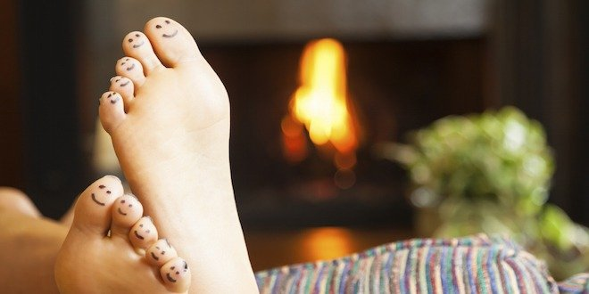 Foot care in the winter