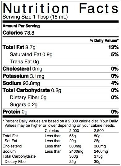 NutritionLabel Cider Flax Dressing for Perfect Chopped Salad (7)