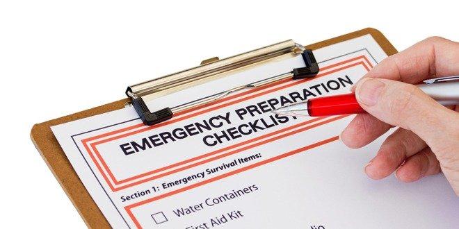 emergency kit check list