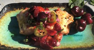 grilled salmon cherry salsa