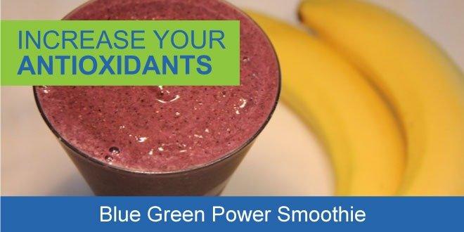Blue green smoothie