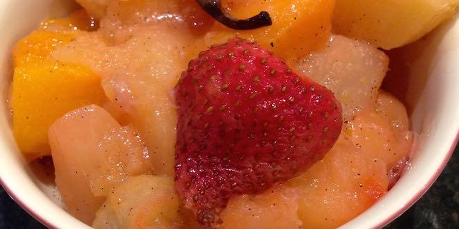 roasted fruit and vanilla