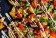 Grilled eggplant rounds