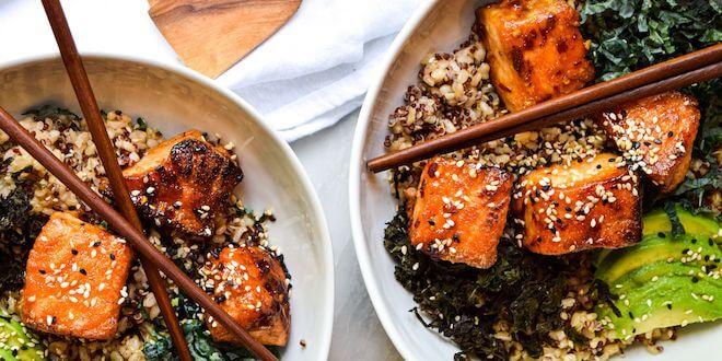 Salmon-poke-bowl