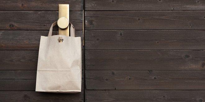 bag on door handle
