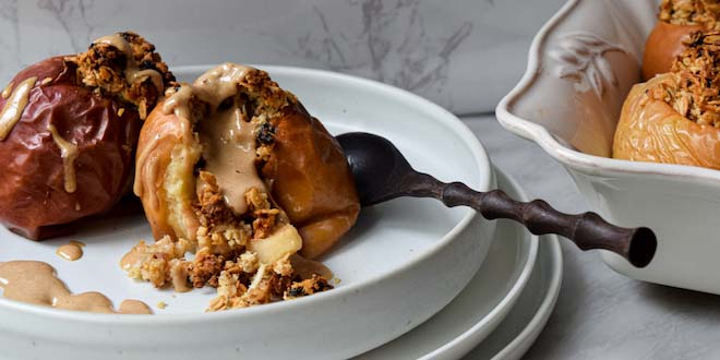 apple crisp baked apples